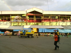 Facade of the under construction new Malaybalay City Public Market, subject of debate of the city council as its contractor H.R. Lopez Co., Inc. has sought a nine-month extension following a delay over legal issues